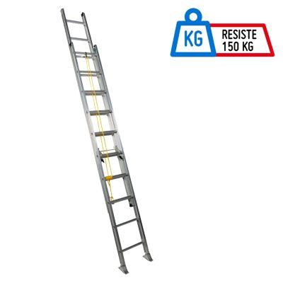 Escalera Telescópica Aluminio 20 Pasos