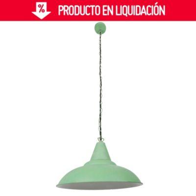 Lámpara Colgante Provensal Verde 1 Luz E27
