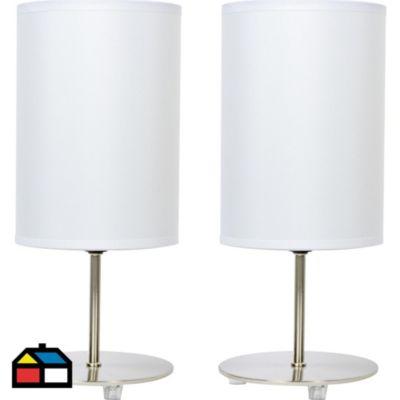 Set 2 Lámparas de mesa Niza 1 luz