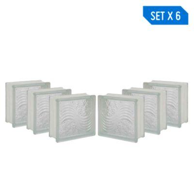Combo 6 Blocks Vidrio Marino 19 x 19 cm
