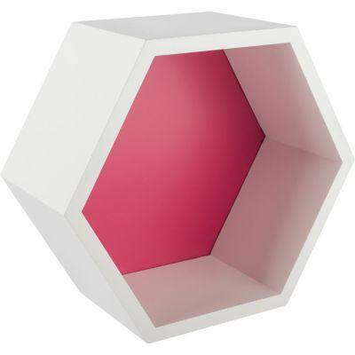 Estante hexagonal fucsia 27x23.4x12 cm