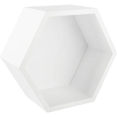 Estante hexagonal blanco 27x23.4x12 cm