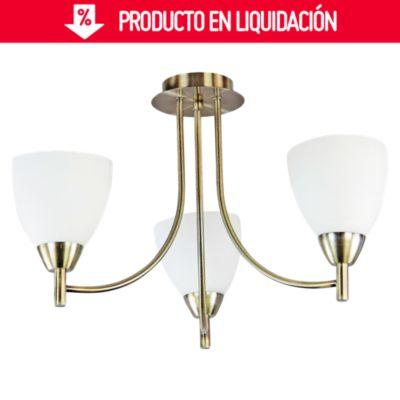 Lámparas de Techo Vidrio Satin 3 Luces E27