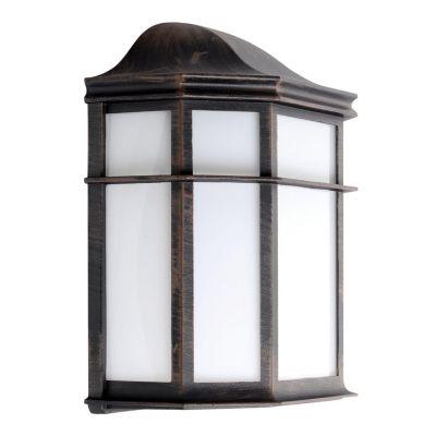 Farol de pared rústico 1 luz