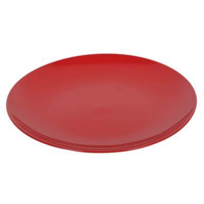 Plato tendido 27cm rojo