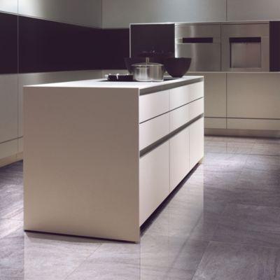 Gres Porcelanico Zebron Grey Smart-tile Marmolizado 59x59cm para piso o pared