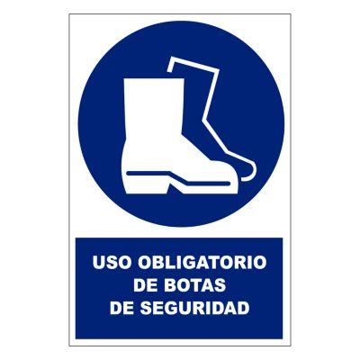 Stickers de Señalización Uso de Botas de Seguridad 20 x 30 cm