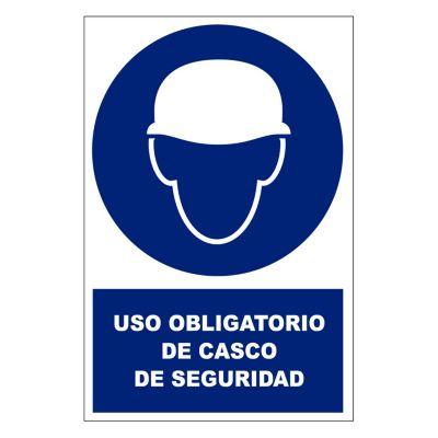 Stickers de Señalización Uso de Casco 20 x 30 cm