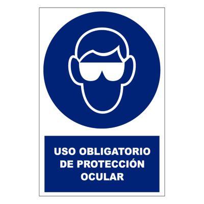 Stickers de Señalización Protección Ocular 20 x 30 cm