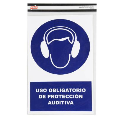 Stickers de Señalización Protección Auditiva 20 x 30 cm