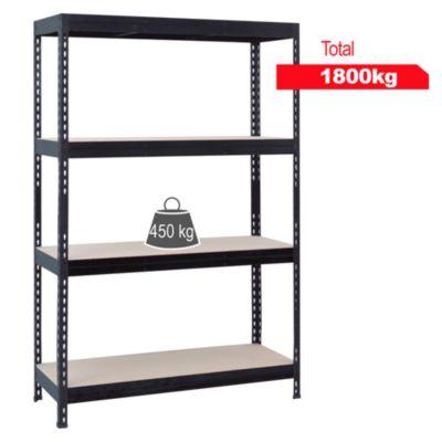 Estante de metal/madera 60x150x176cm