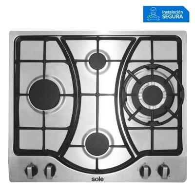 Cocina empotrable 4 quemadores SOLC0037
