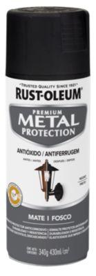 Aerosol  protector de superfices metalicas, Metal Protection  Mate Negro 340 Gr