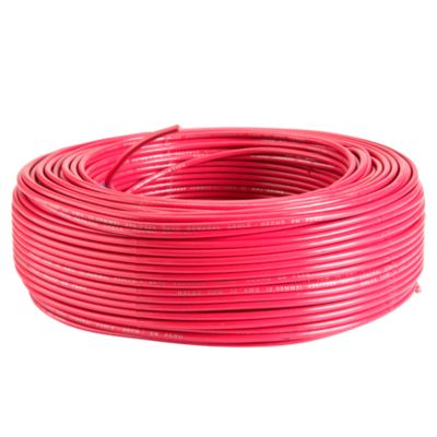 Cable THW 12 AWG Rojo x Metro Lineal