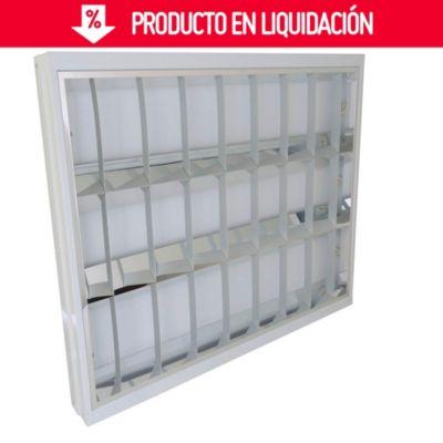 Artefacto Empotrable Aluminio EE 3 x 18 W