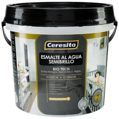Esmalte al agua Blanco Semibrillo 4 L