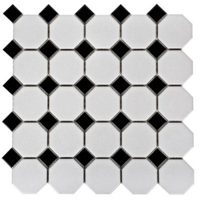 Malla decorativa 29x29cm Blanco y negro