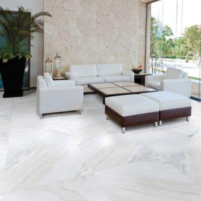 Gres Porcelanico Calacata Blanco Marmolizado 59x59cm para piso o pared