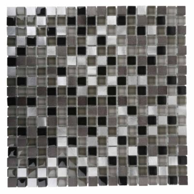 Malla decorativa 30x30cm Mix Gris