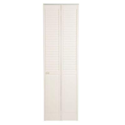 Puerta Clóset Blanco Panel Celosías 60 cm