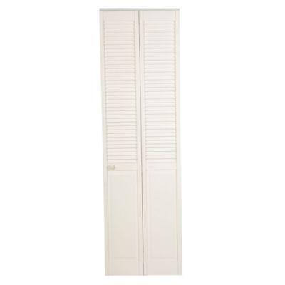 Puerta Clóset Blanco Panel Celosías 76 cm