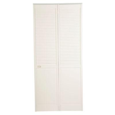 Puerta Clóset Blanco Panel Celosías 91 cm