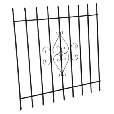 Reja de Seguridad para Ventana 122 x 122 cm Negro