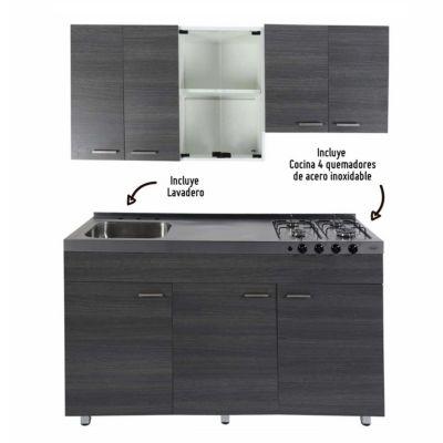 Mueble de cocina Sicilia 150cm + lavadero y cocina integrada