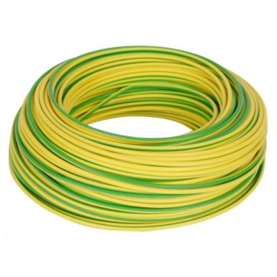 Cable LH 4 mm Verde / Amarillo x 100 m
