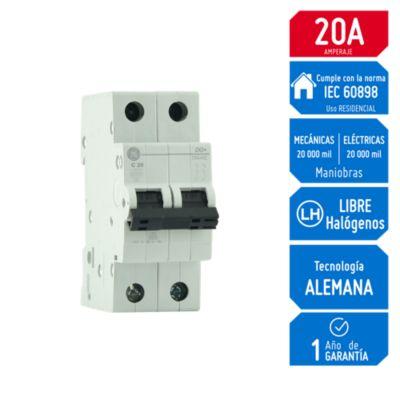Interruptor Termomagnético 2x20A General Electric