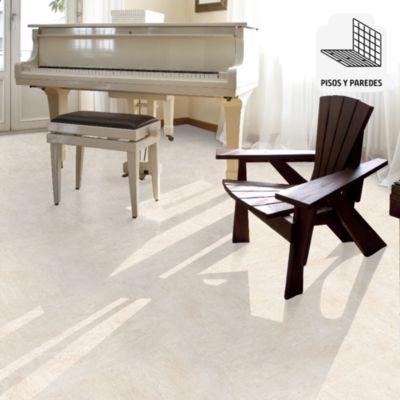 Porcelanato Roma Beige Marmolizado 58x58 cm para piso o pared