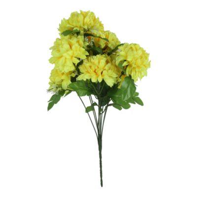 Flores dalia amarilla 55cm