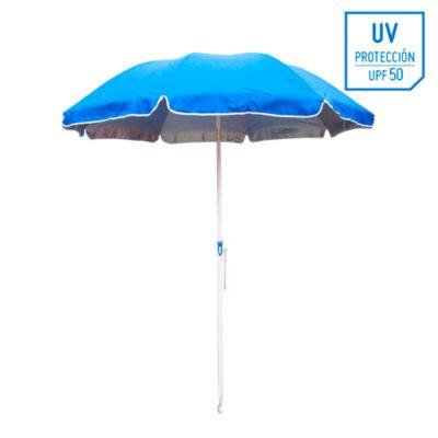 Sombrilla de playa 50UV 2m Azul