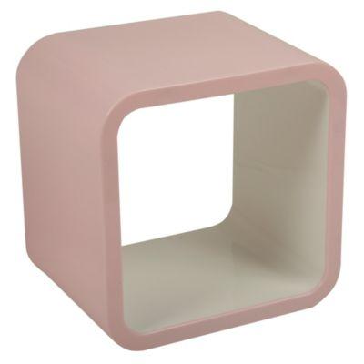 Cubo rosado/blanco 26x20x26 cm