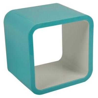 Cubo celeste/blanco 26x20x26cm