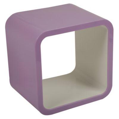 Cubo lila/blanco 26x20x26cm