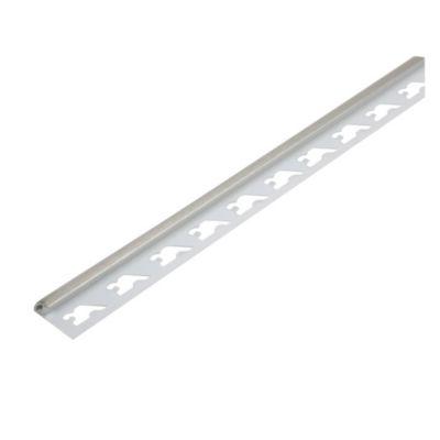 Perfil para Revestimiento PVC Cepillado Plata 29690S
