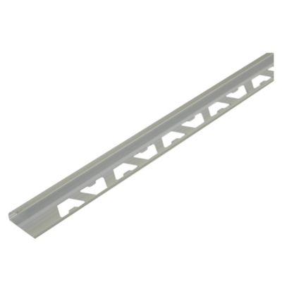 Perfil para Revestimiento Aluminio Satinado Plata 254AF90