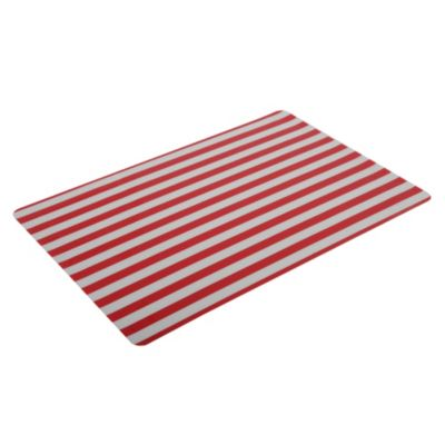 Individual rayas rojo 23x48cm