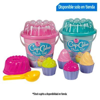 Balde Playero Cupcakes