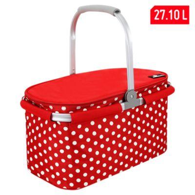 Canasta picnic 27L Roja