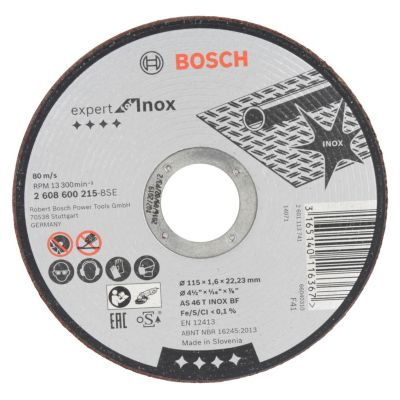 Disco Abrasivo 115 x 1.6 x 22.23 mm