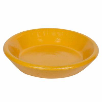 Plato para maceta genérico amarillo 16 cm