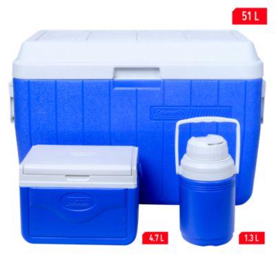 Combo cooler 3 piezas  51L, 4.7L y termo de 1.3L