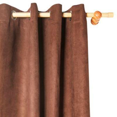 Cortina de Tela Suede Chocolate 140x220