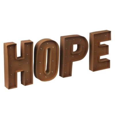 Cartel con luces Led Hope 70x30cm