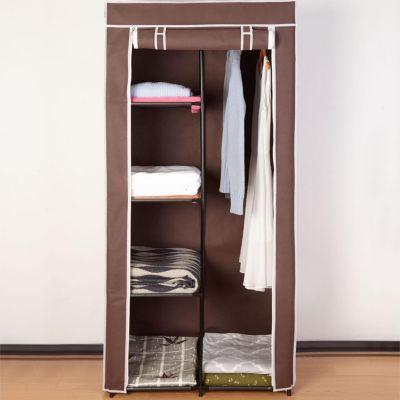 Closet de tela marrón