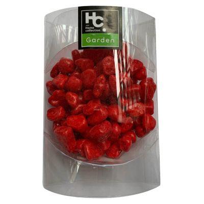 Piedras decorativas rojas