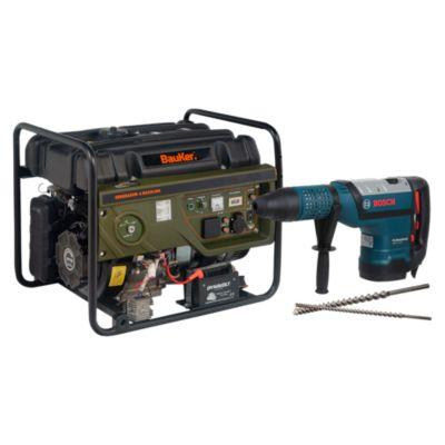 Combo Martillo Perforador GBH 12-52 D + Generador a Gasolina 6000W 4T GG6300E + Broca SDS-MAX  32x400/520 mm + Broca SDS-MAX Speed x32x800 / 900
