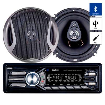 Autoradio Bluetooth/USBX2/AUX + 2 Parlantes RSK-320B0BT
